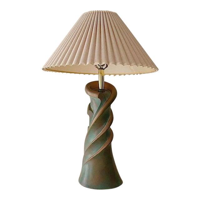 1980s Spiral Ceramic Lamp by Art Master Studios Ca For Sale