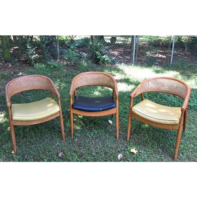 1960s James Mont Cane Back Chairs - Set of 4 - Image 3 of 10