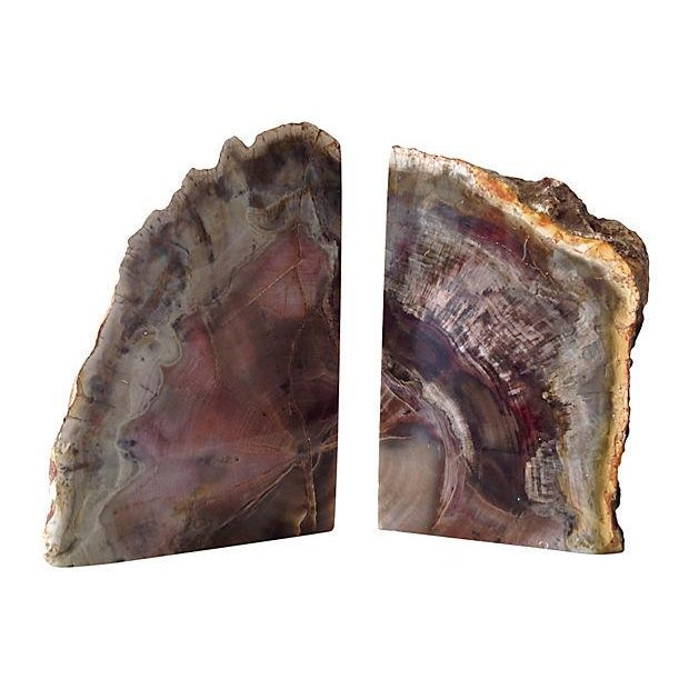 Pink and Chocolate Large Quartz Bookends - A Pair - Image 3 of 7