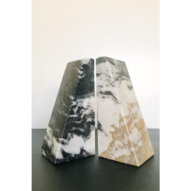 1960s Vintage Marble Bookends - a Pair For Sale - Image 5 of 5