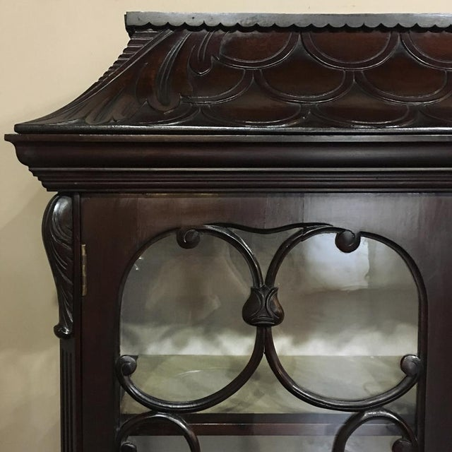 Walnut 19th Century English Curio Cabinet For Sale - Image 7 of 13