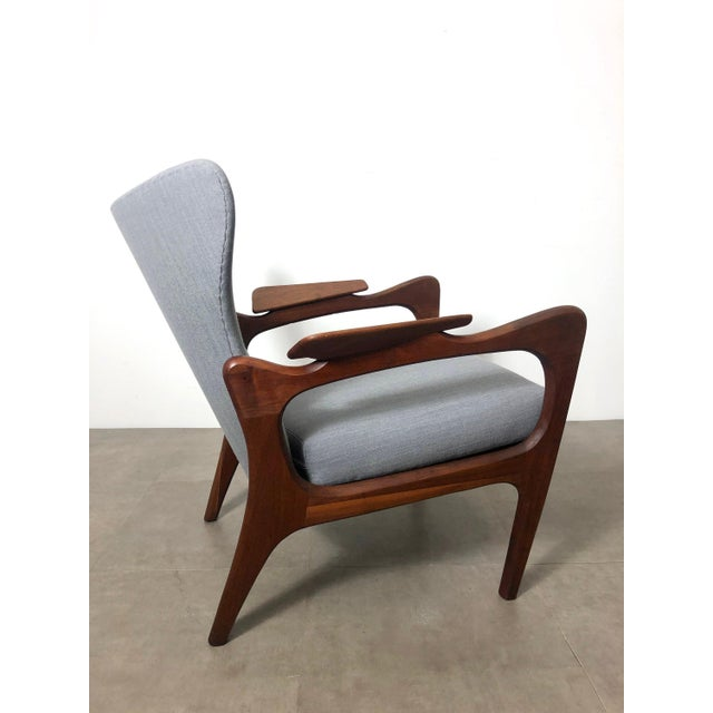 Adrian Pearsall 1960s Pair Adrian Pearsall for Craft Associates Wingback Lounge Chairs For Sale - Image 4 of 10