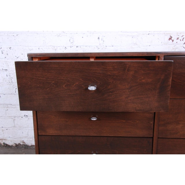Aluminum Paul McCobb Planner Group Iron Base Six-Drawer Dresser or Credenza For Sale - Image 7 of 13