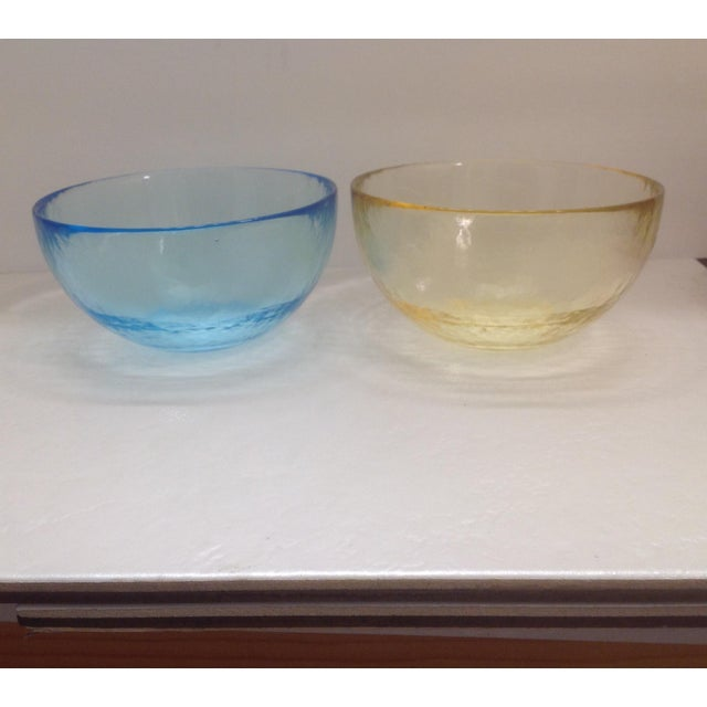 Transparent Yalos Casa Murano Art Glass Bowls - Set of 4 For Sale - Image 8 of 9