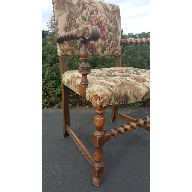 American Classical 1940s Vintage Upholstered Dining Chairs- Set of 8 For Sale - Image 3 of 13