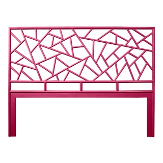 Tiffany Headboard King - Bright Pink For Sale