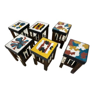 Art Stools by Thorsten Passfeld- Set of 6 For Sale