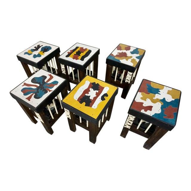 Art Stools by Thorsten Passfeld- Set of 6 For Sale