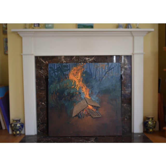 A rebirth. Creating a phoenix from the ashes of old paintings. Painted in 2020. This is professional grade acrylic on...