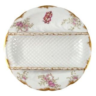 Early 20th Century Antique Porcelain Asparagus Plate Paris Limoges W. Guerin & Co For Sale