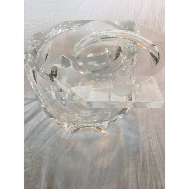Extra Large Modern Faceted Lucite Decorative Box or Ice Bucket - Image 5 of 5