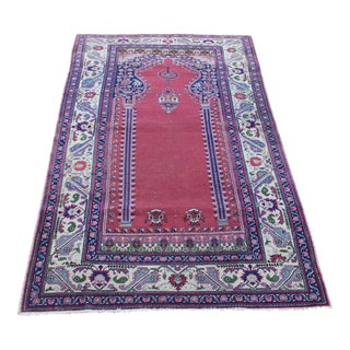 "Vintage Turki̇sh Anatolian Rug - 3'9"" x 6'2"" For Sale"