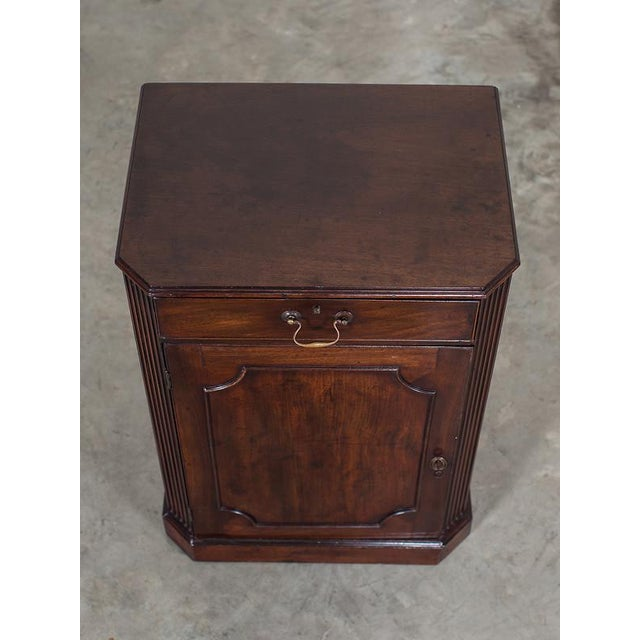 Brass George III Antique English Mahogany Cabinet circa 1780 For Sale - Image 7 of 10
