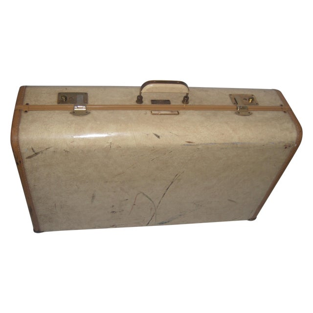 Mid Century Penney's Towncraft Vinyl Suitcase For Sale