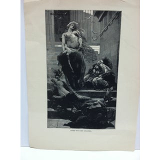"""Vintage Black & White Print on Paper, """"Niobe With Her Children"""" Preview"""