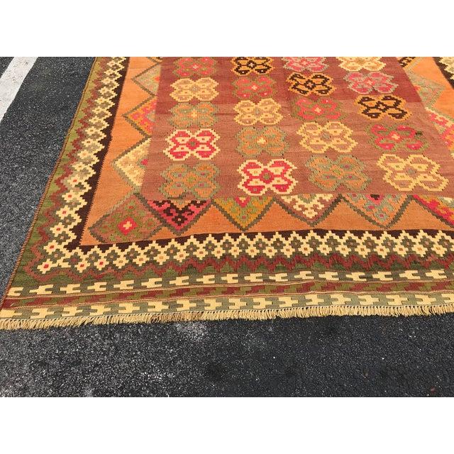 Rug & Kilim Persian, Qashqai Hand-Woven Kilim, From Iran For Sale - Image 4 of 6