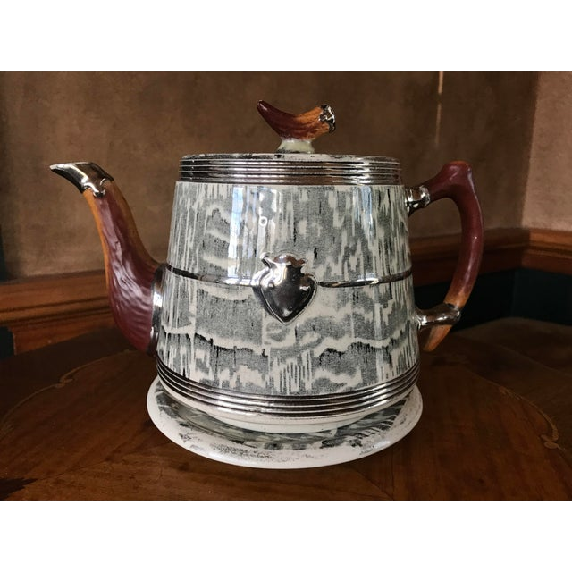 1930s Arthur Wood Silver Shield Teapot For Sale - Image 11 of 11