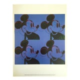 """Image of Andy Warhol Foundation Rare 1995 Lithograph Print Pop Art Poster """" Mickey Mouse """" 1981 For Sale"""
