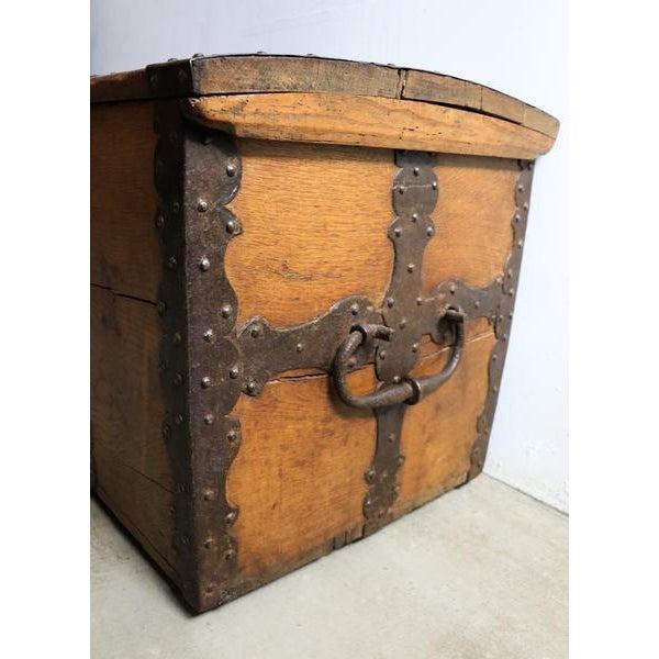 18th Century Oak & Iron Danish Coffer For Sale - Image 4 of 10