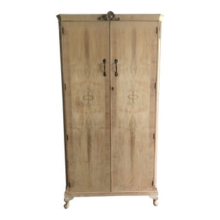 Antique English Fitted Wardrobe Armoire For Sale