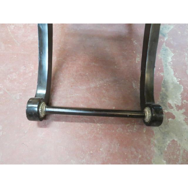 Brass 1990s Neoclassical Maitland-Smith X Base Bar Table/Console Table For Sale - Image 7 of 9