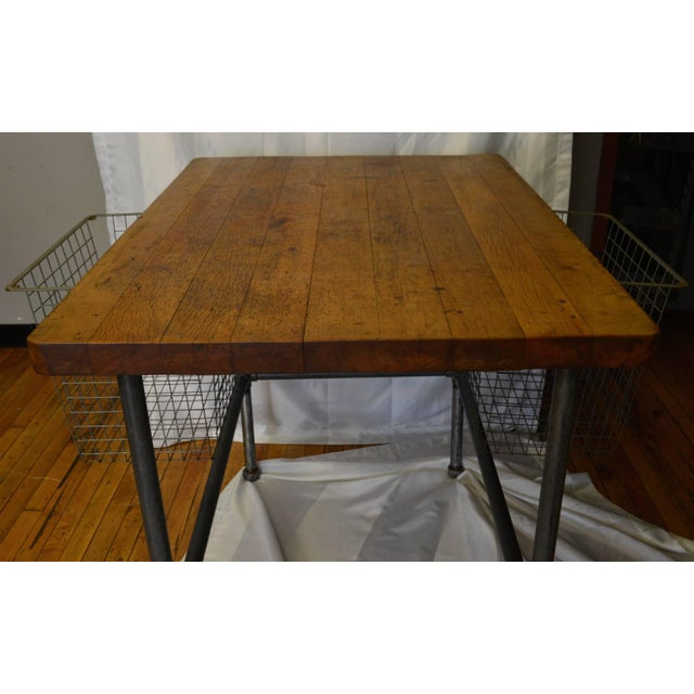 Maple Top Kitchen Island with Sliding Baskets - Image 9 of 9