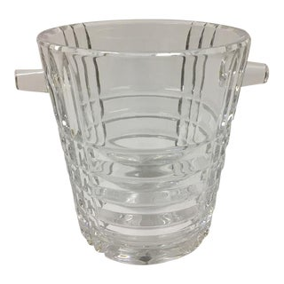 Mid 20th Century Crystal Ice Bucket For Sale