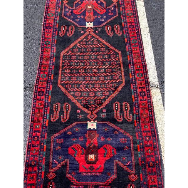 1960s 1960s Vintage Persian Bijar Runner Rug - 4′3″ × 11′4″ For Sale - Image 5 of 13