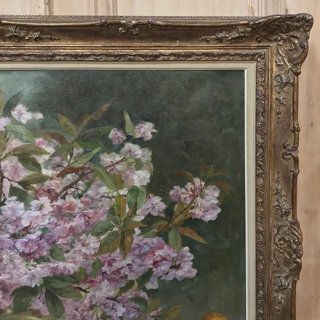 Russian Framed Oil Painting on Canvas For Sale In Dallas - Image 6 of 11