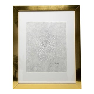 Starburst Hand Embossed Drawing For Sale