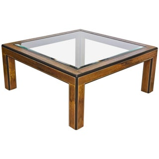 1970s Mid-Century Modern Bernhard Rohne for Mastercraft Square Cocktail Table Final Markdown For Sale