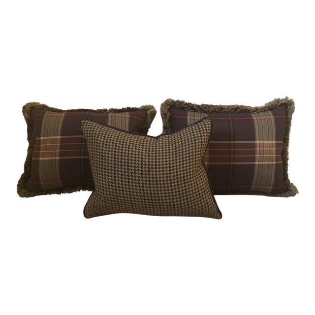 Custom Wool Ralph Lauren Throw Pillows - Set of 3 - Image 1 of 8