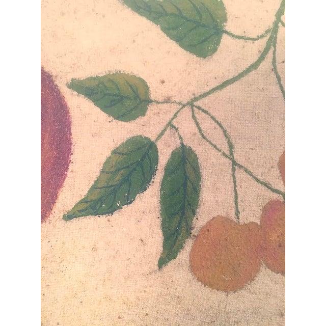 Yellow American Folk Art Fruit Still Life Painting, circa 1895 For Sale - Image 8 of 11