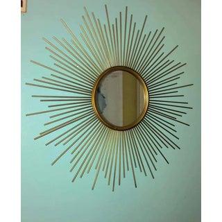 1980s Vintage Metal Sun Burst Mirror Preview