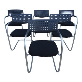 Modern Antonio Citterio for Vitra Visasoft Visavis Guest and Conference Chairs- Set of 6