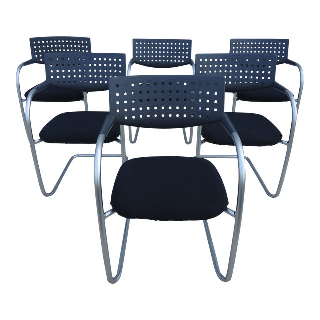 Modern Antonio Citterio for Vitra Visasoft Visavis Guest and Conference Chairs- Set of 6 For Sale
