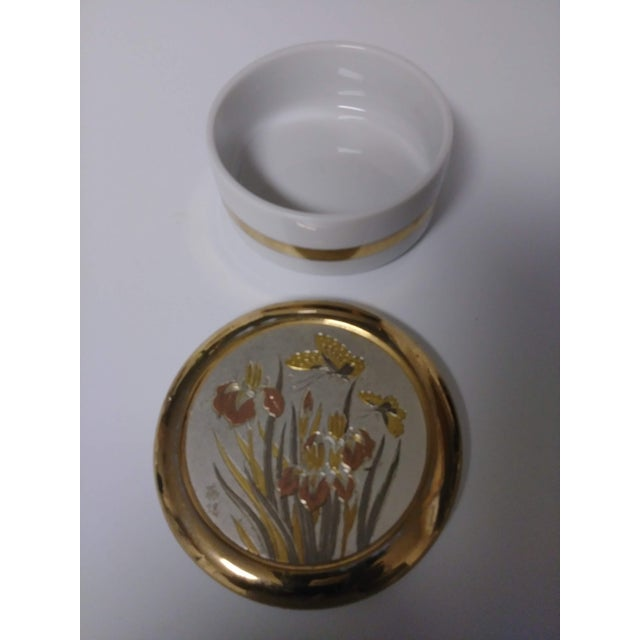 Asian 1960s Japanese Chokin Gold Trinket Box For Sale - Image 3 of 7