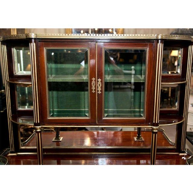 French Louis XIV Style Mahogany Server Cabinet Buffet Cupboard by Maisen Jansen - Image 5 of 8