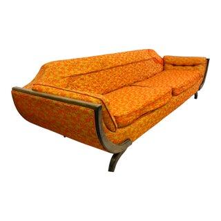Vintage Mid-Century Modern Gondola Sofa For Sale