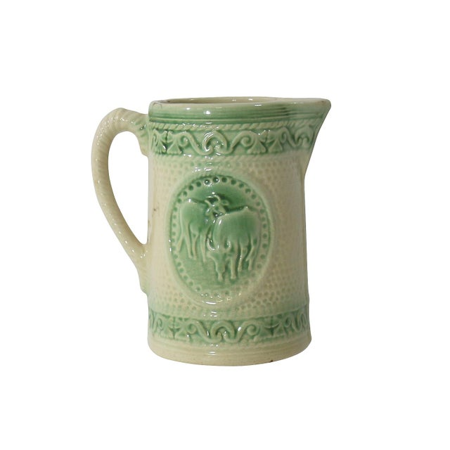 Antique Ceramic Cow Pitcher For Sale - Image 9 of 9