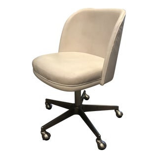 Modern Restoration Hardware Leather Office Chair For Sale