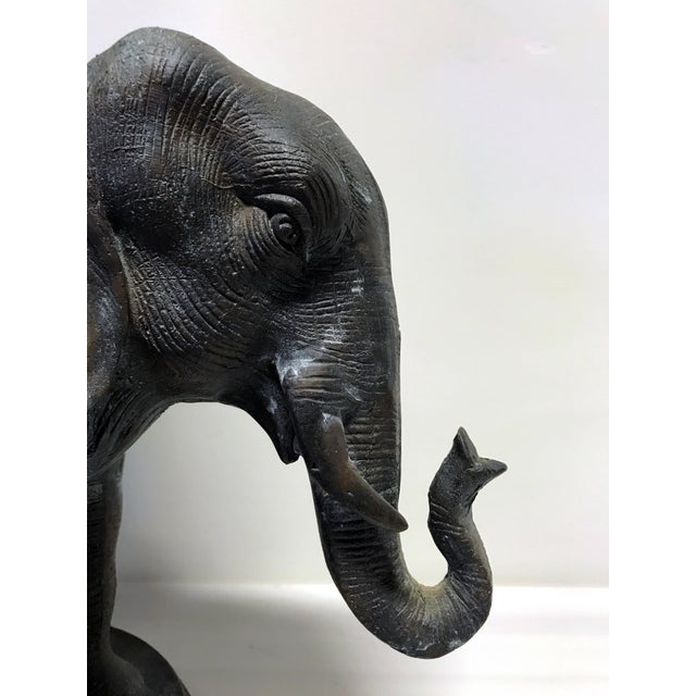 Vintage Maitland Smith Bronze Elephant Planter For Sale - Image 11 of 13