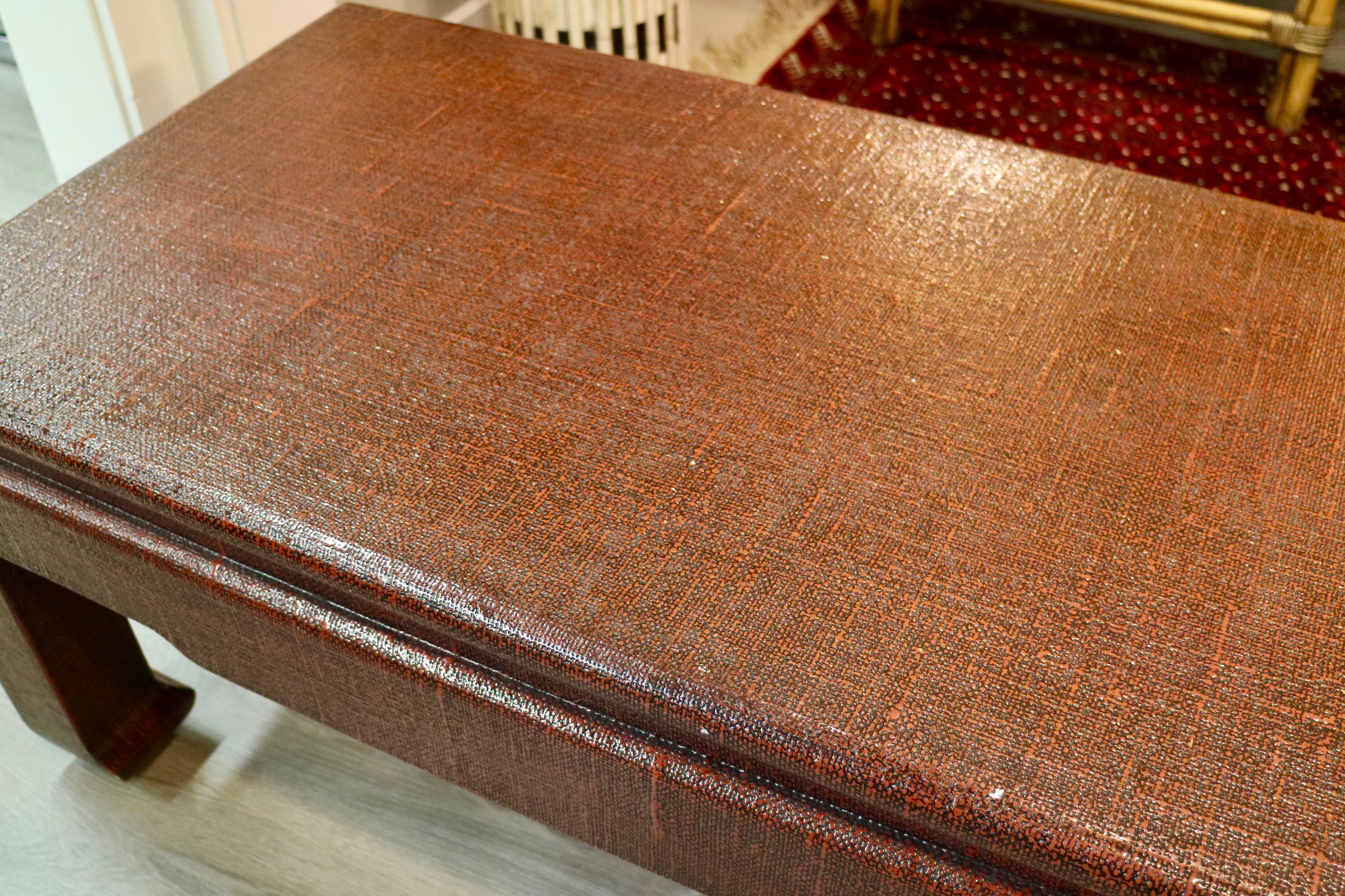 Linen Wrapped Coffee Table Chairish