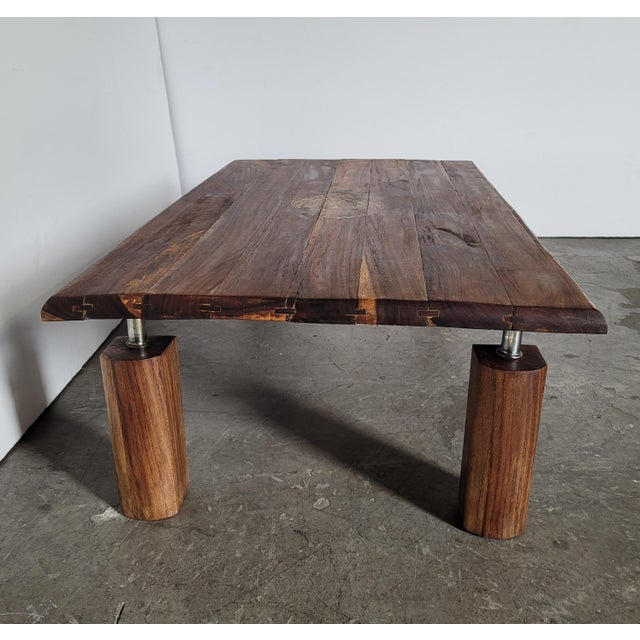 Mid-Century Modern Brazilian Rosewood Indoor/Outdoor Coffee Table For Sale - Image 3 of 9