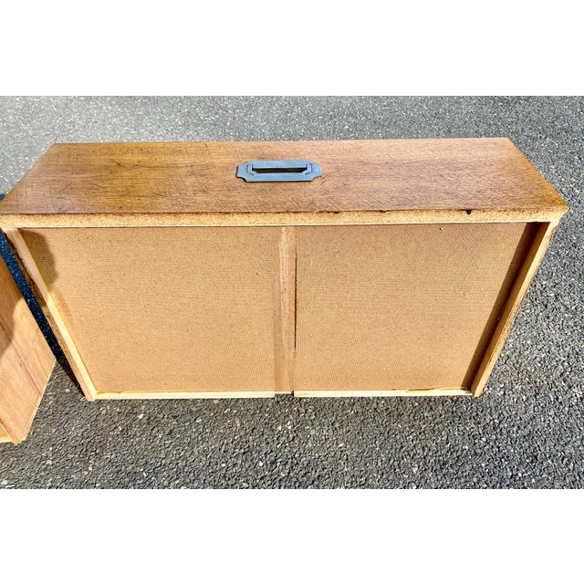 1970s Mid Century Modern Bernhardt Walnut Campaign Dresser For Sale - Image 11 of 13