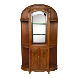 Antique Art Nouveau Display Cabinet, Circa 1905 For Sale