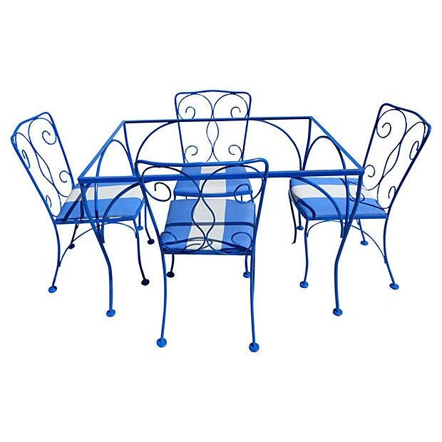 Mid Century Modern Iron Outdoor Set - Image 3 of 5