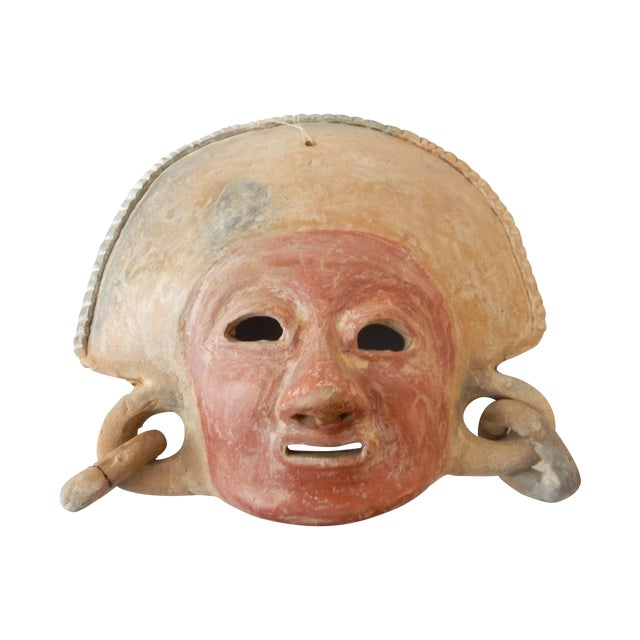 Pre Colombian Style Decorative Mask For Sale