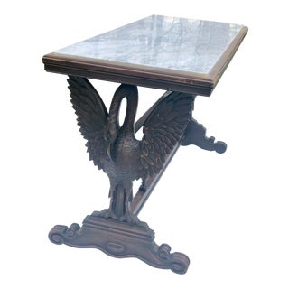 Fine Antique Figural Carved Console Library Table For Sale