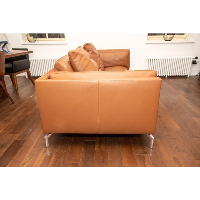 Design Within Reach Design Within Reach Como Leather Sofa For Sale - Image 4 of 5